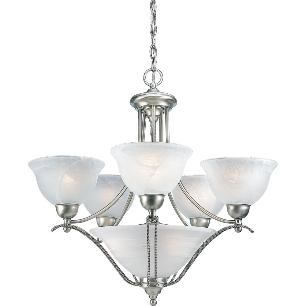 Avalon Collection Brushed Nickel 5-light Chandelier
