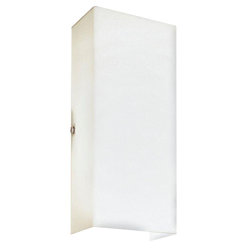 White 2-light Wall Bracket