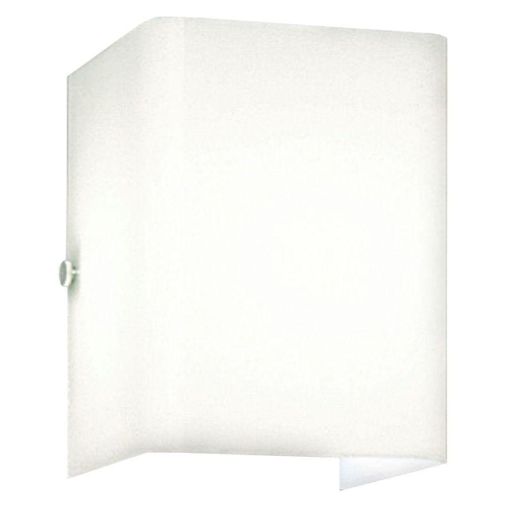 White 1-light Wall Bracket