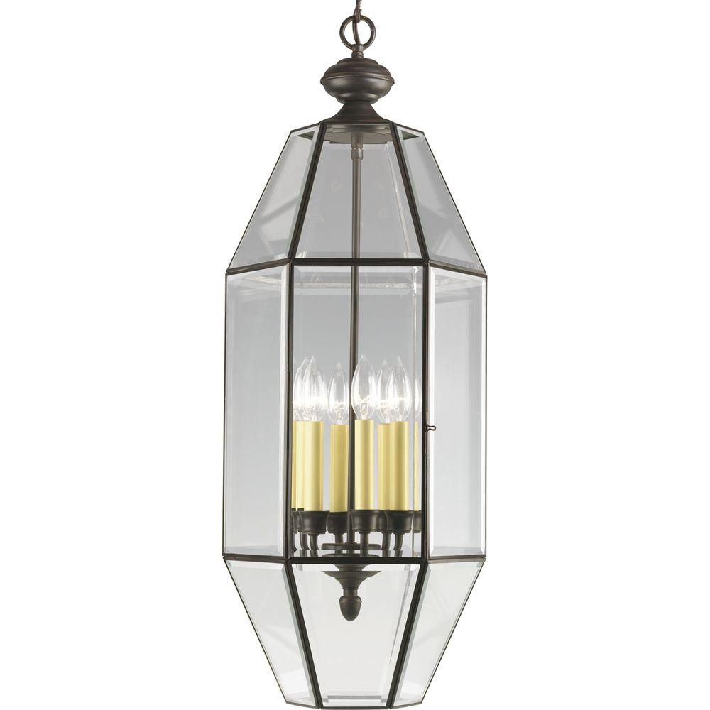 Home Depot Canada Foyer Lighting : Progress lighting antique bronze light foyer pendant