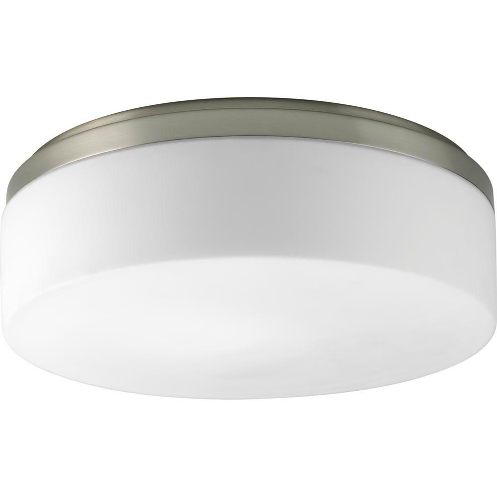 Maier Collection Brushed Nickel 2-light Flushmount
