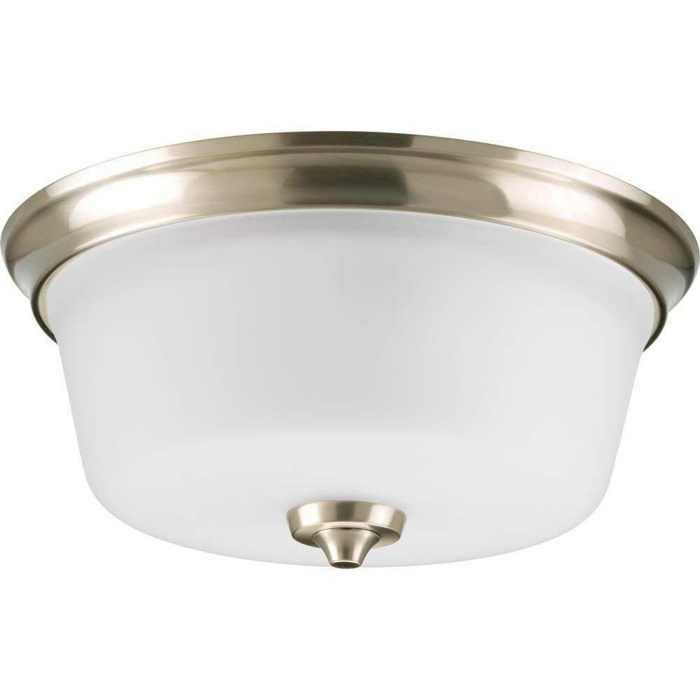 Lahara Collection Brushed Nickel 2-light Flushmount