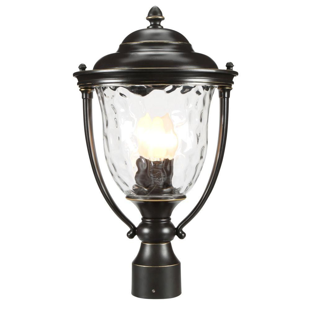 Progress Lighting Prestwick Collection 3-Light Oil-Rubbed Bronze Outdoor Post Lantern