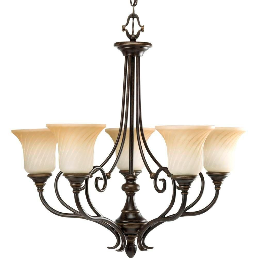 Kensington Collection Forged Bronze 5-light Chandelier