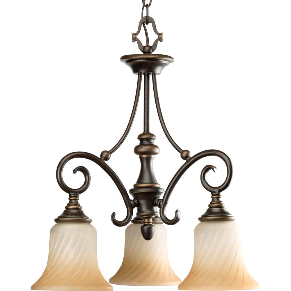 Progress Lighting Kensington Collection Forged Bronze 3-light Chandelier