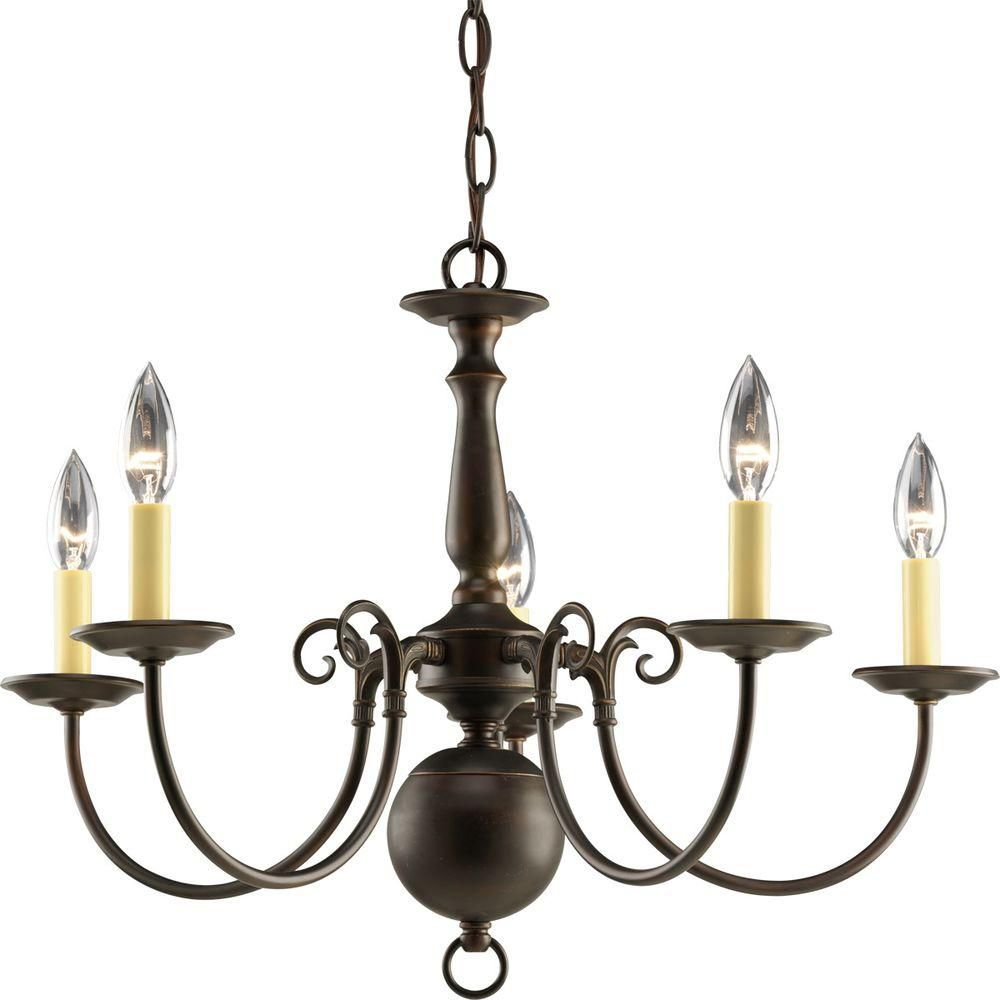 Americana Collection Antique Bronze 5-light Chandelier