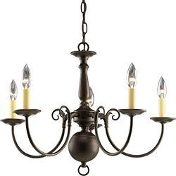 Progress Lighting Americana Collection Antique Bronze 5-light Chandelier