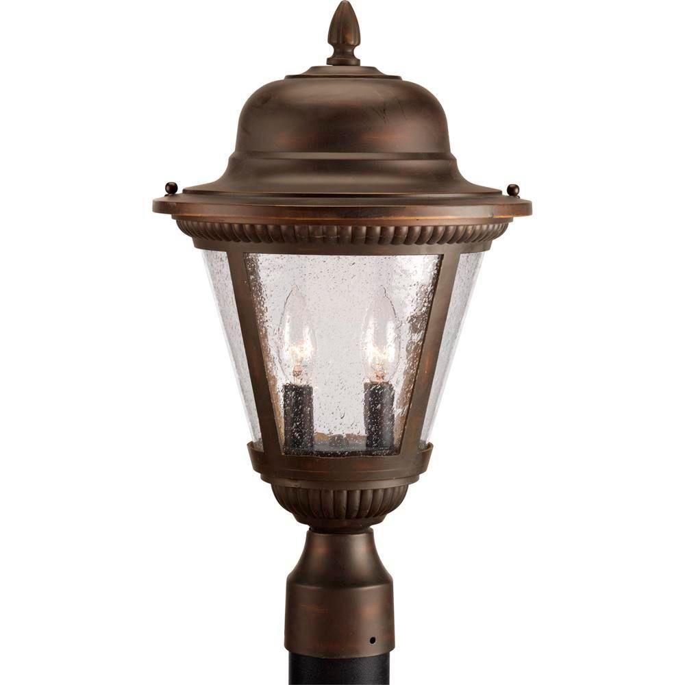 Lampadaire à 2 Lumières, Collection Westport - fini Bronze à l'Ancienne