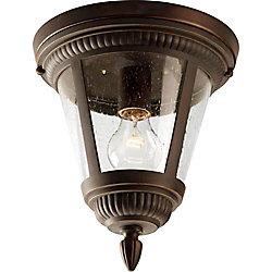 Progress Lighting Plafonnier extérieur à 1 Lumière, Collection Westport - fini Bronze à l'Ancienne