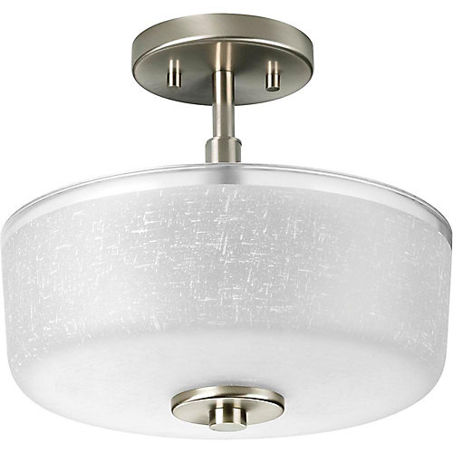 Alexa Collection Brushed Nickel 2-light Semi-flushmount