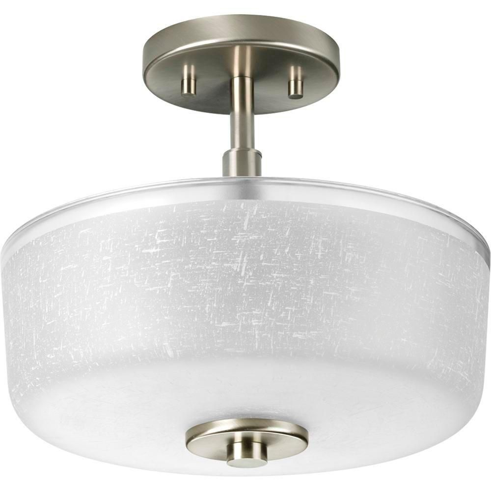 Progress Lighting Alexa Collection Brushed Nickel 2-light Semi-flushmount