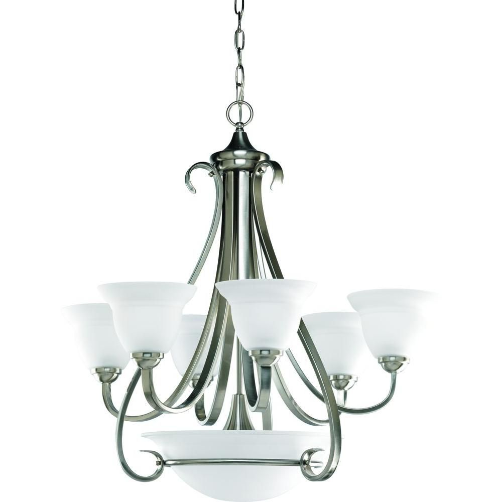 Torino Collection Brushed Nickel 6-light Chandelier