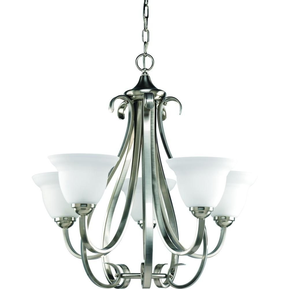 Torino Collection Brushed Nickel 5-light Chandelier