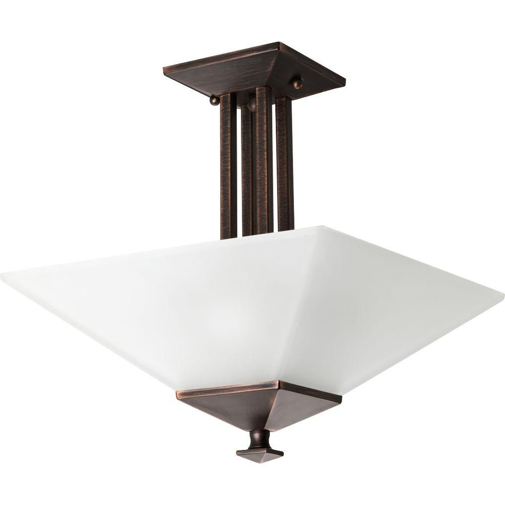 North Park Collection Venetian Bronze 2-light Semi-flushmount 7.85247E 11 Canada Discount