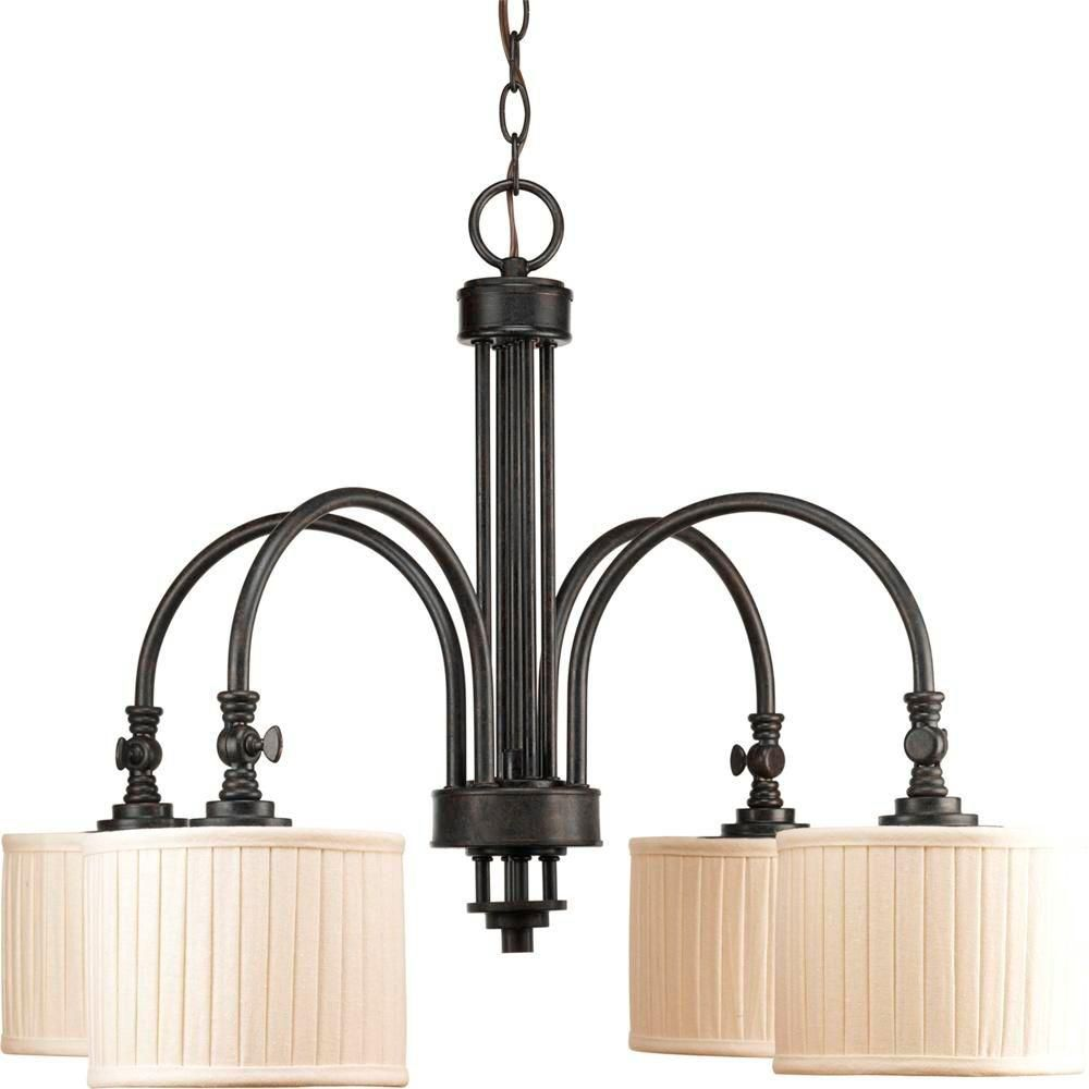 Clayton Collection Espresso 4-light Chandelier