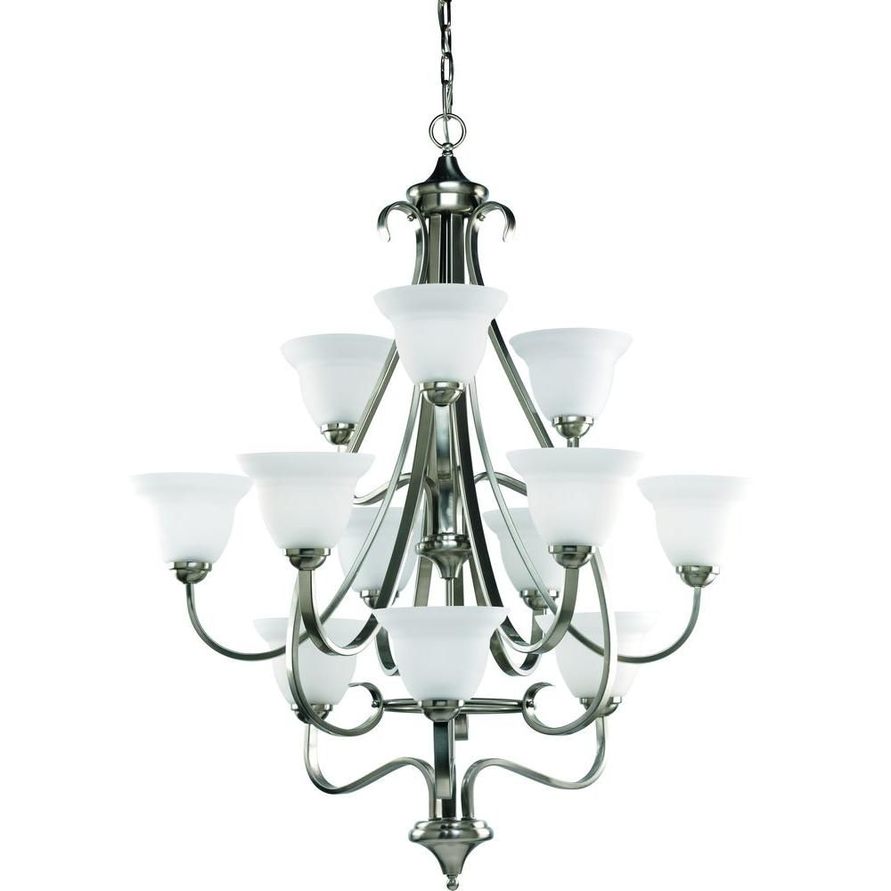 Torino Collection Brushed Nickel 12-light Chandelier