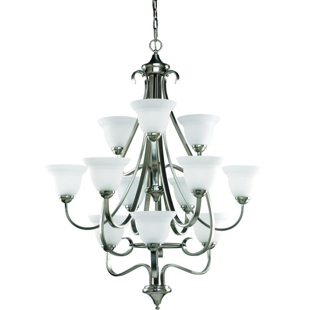 progress lighting lustre 12 lumi res collection torino fini nickel bross home depot canada. Black Bedroom Furniture Sets. Home Design Ideas