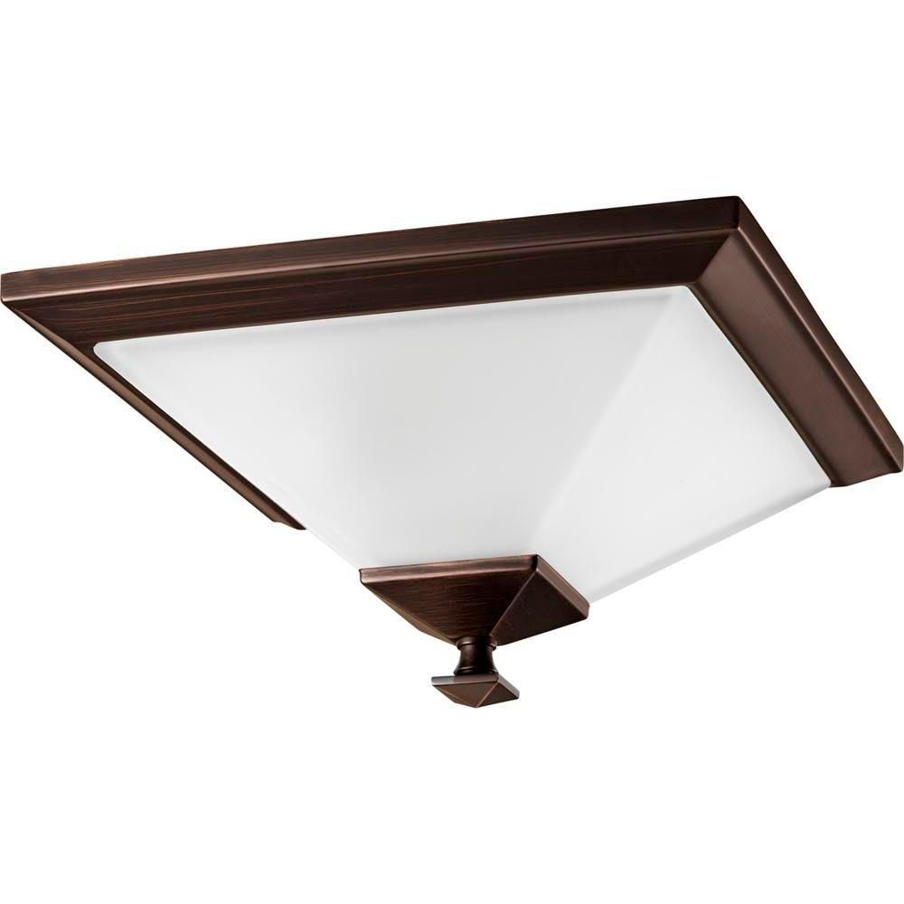 North Park Collection Venetian Bronze 1-light Flushmount