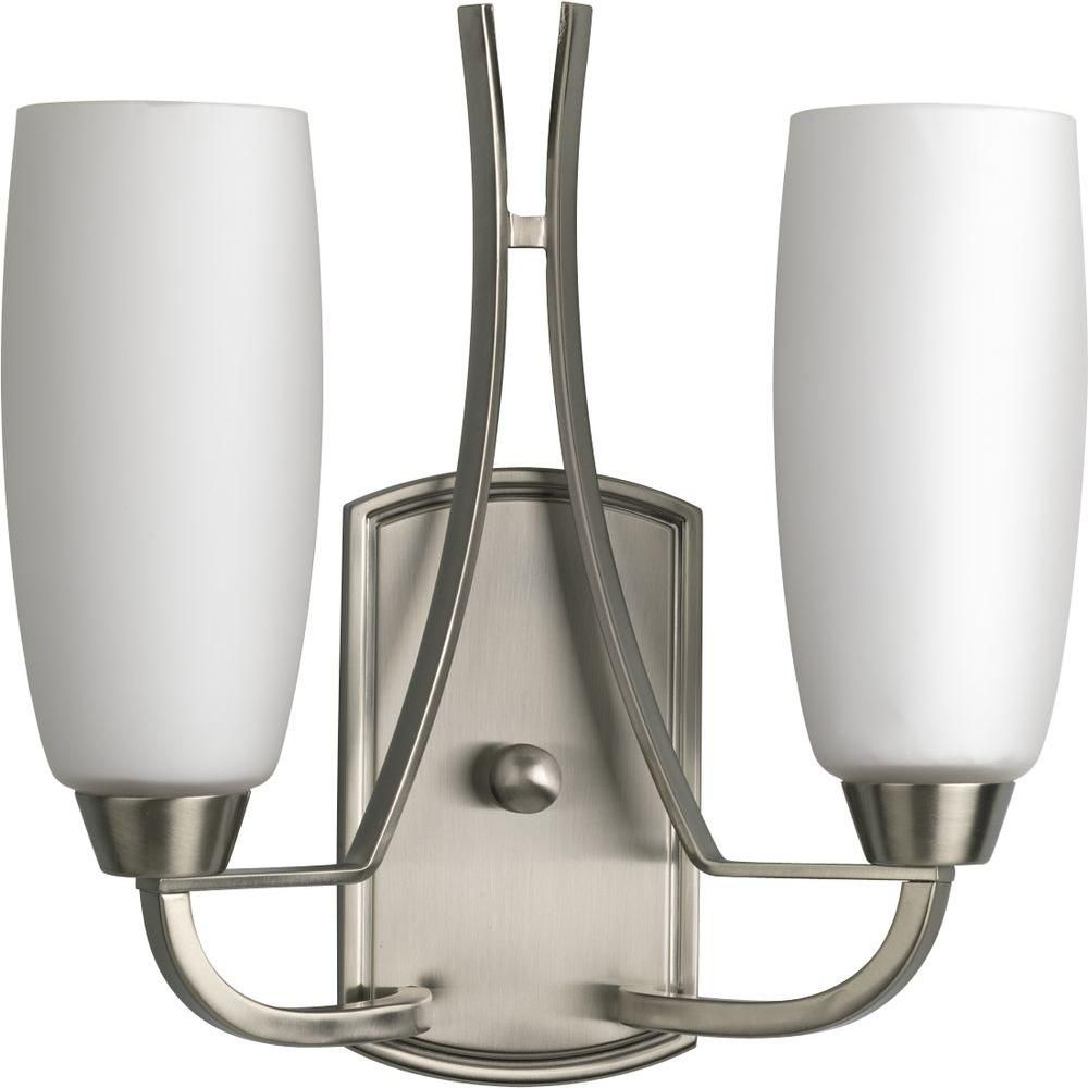Wisten Collection Brushed Nickel 2-light Wall Bracket
