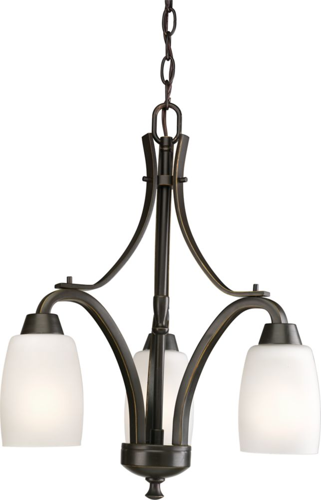Wisten Collection Antique Bronze 3-light Chandelier