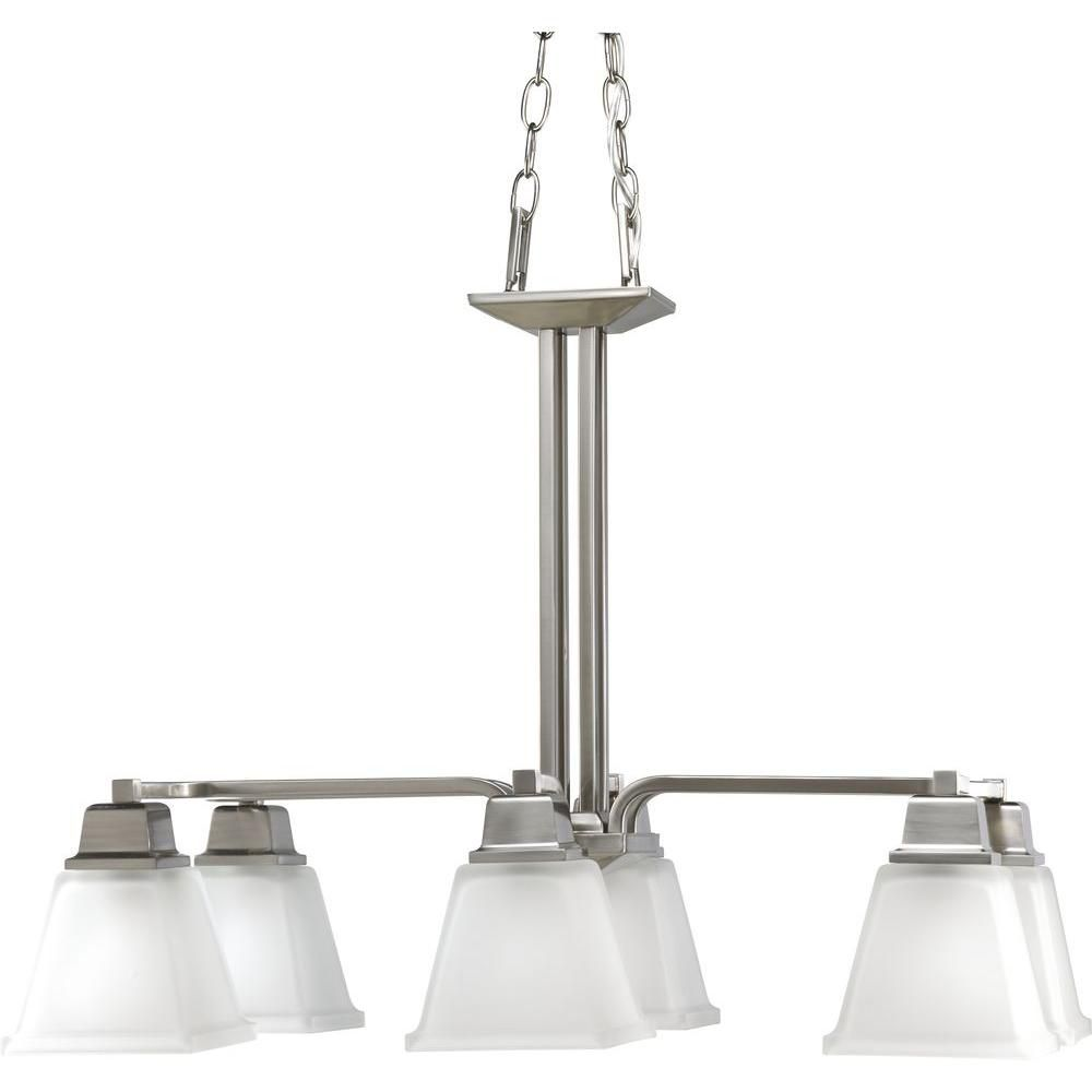 North Park Collection Brushed Nickel 6-light Chandelier