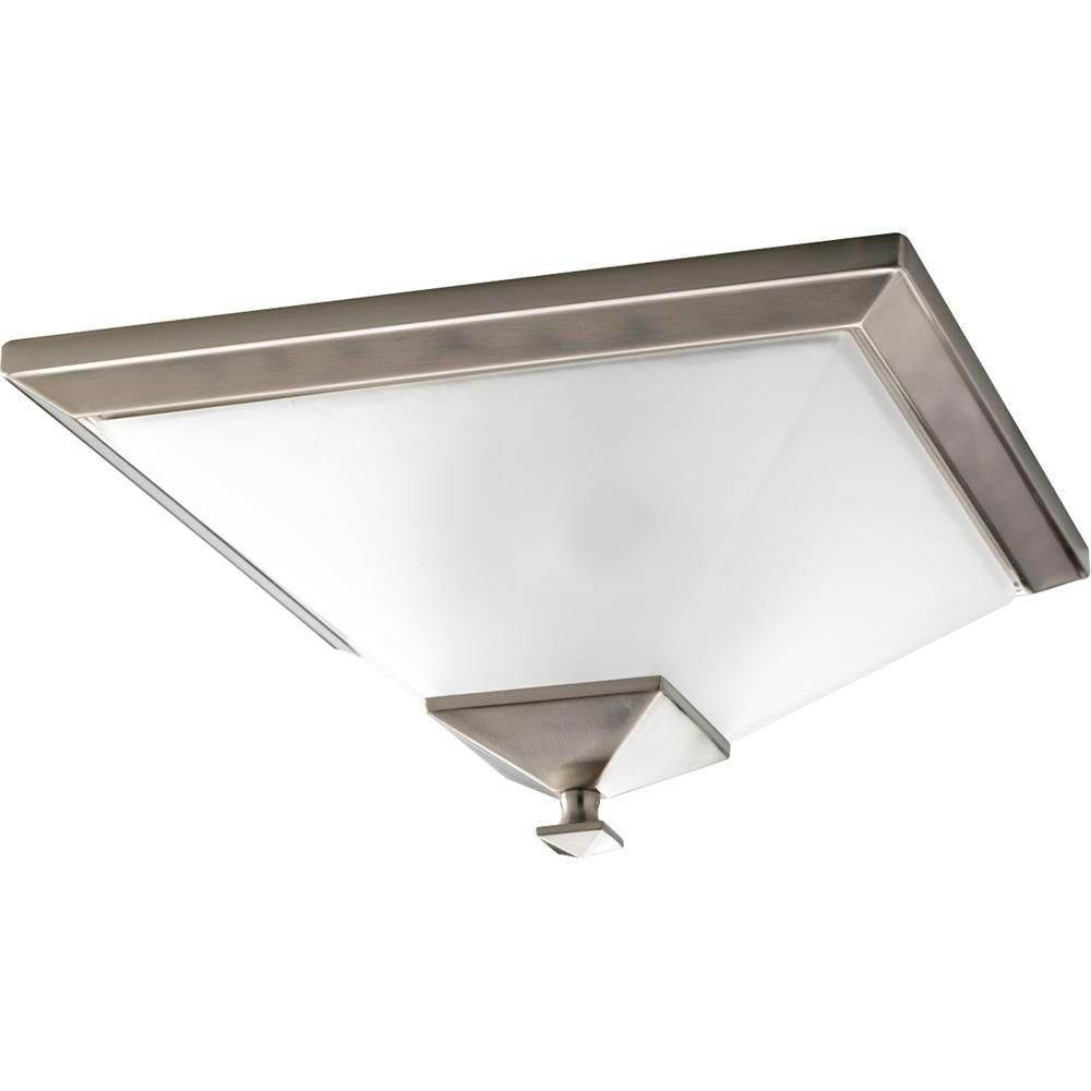 North Park Collection Brushed Nickel 2-light Flushmount