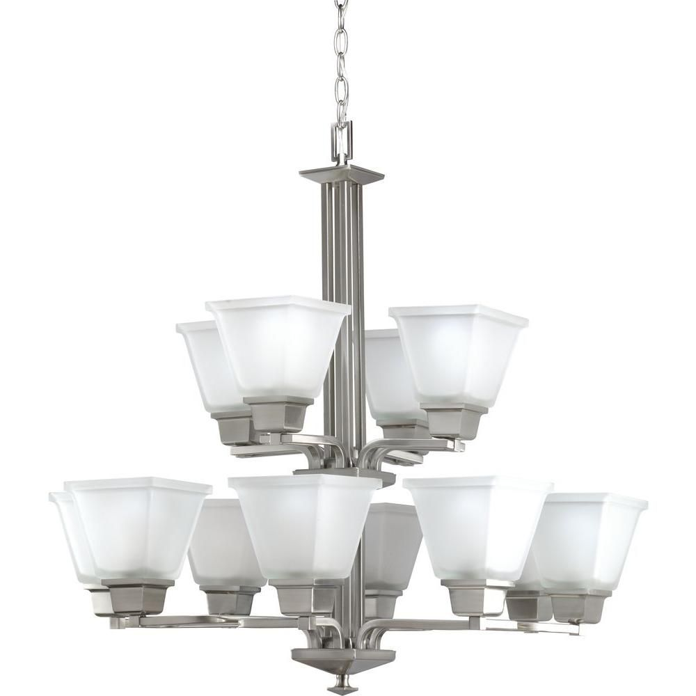 Progress Lighting North Park Collection Brushed Nickel 12-light Chandelier
