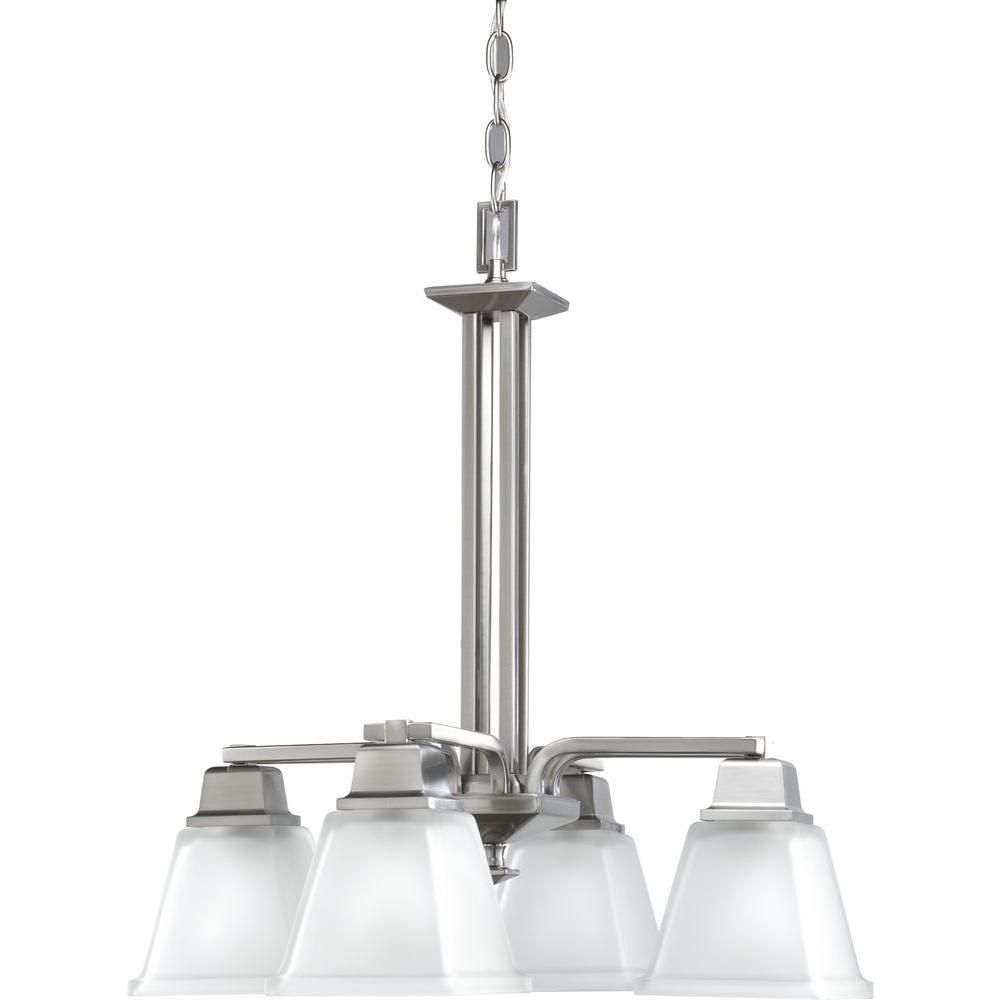 North Park Collection Brushed Nickel 4-light Chandelier