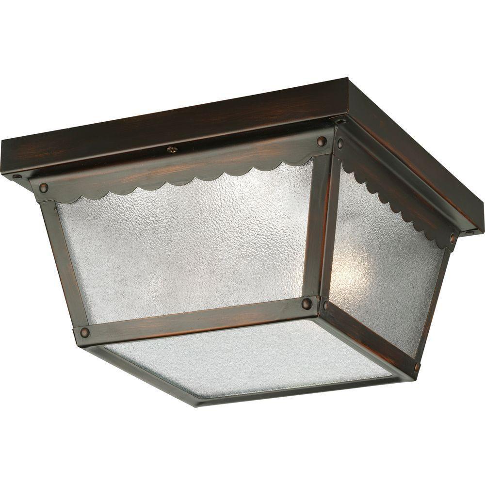 Progress lighting plafonnier ext rieur 2 lumi res fini for Lumieres exterieur