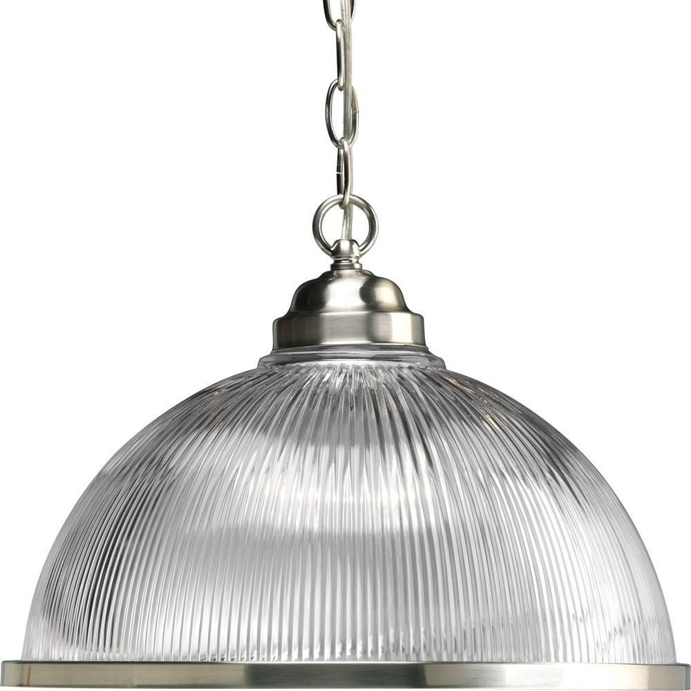 Brushed Nickel 1-light Pendant