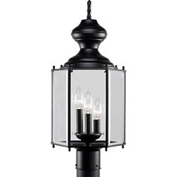Progress Lighting Black 3-light Post Lantern