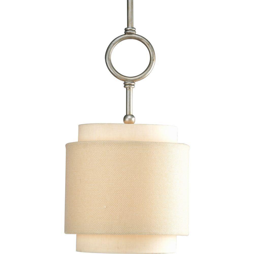 Progress Lighting Ashbury Collection Silver Ridge 1-light Mini-Pendant