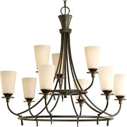 Progress Lighting Cantata Collection Forged Bronze 9-light Chandelier