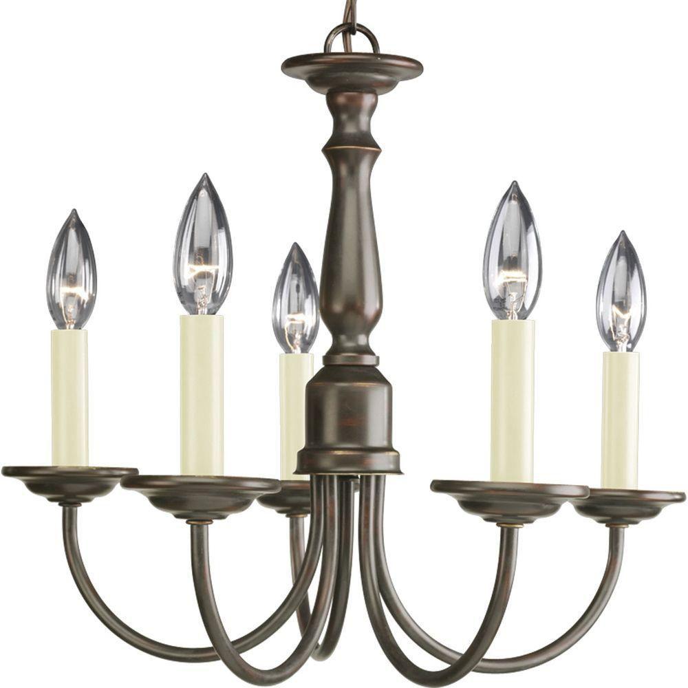 Antique Bronze 5-light Chandelier