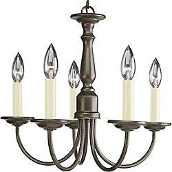 Progress Lighting Lustre à 5 Lumières - fini Bronze à l'Ancienne