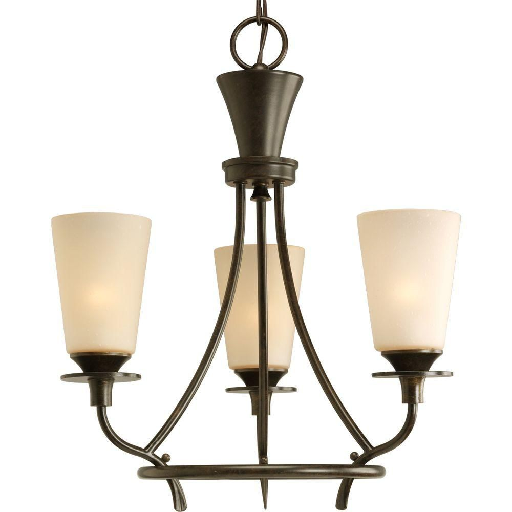 Cantata Collection Forged Bronze 3-light Chandelier