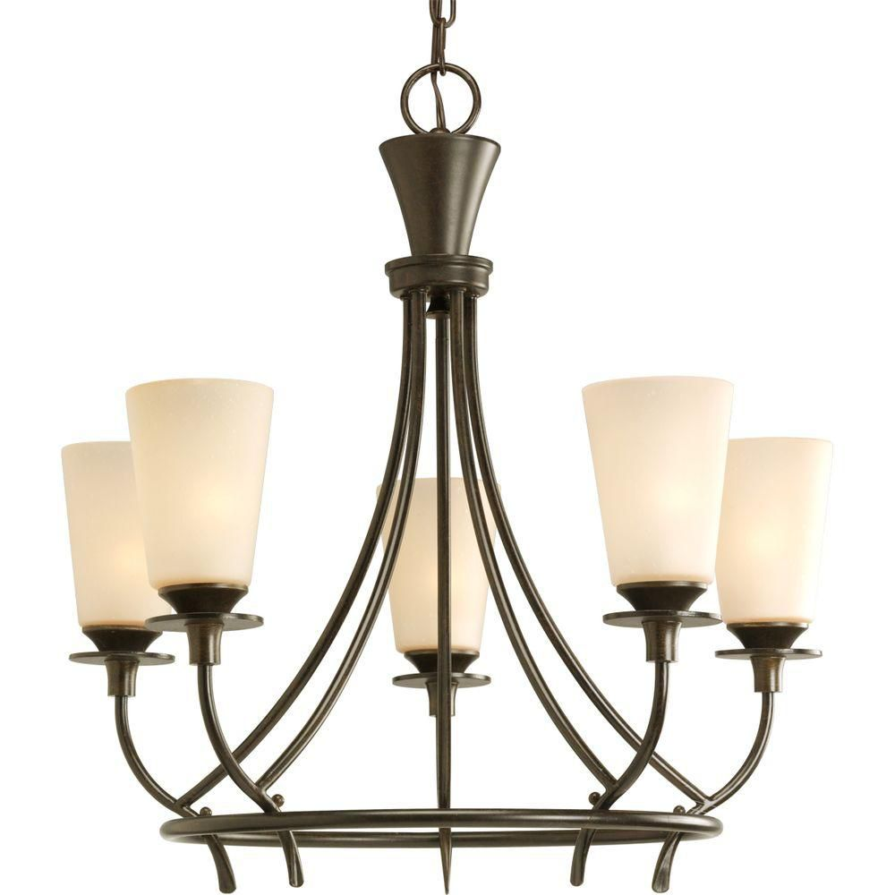 Cantata Collection Forged Bronze 5-light Chandelier