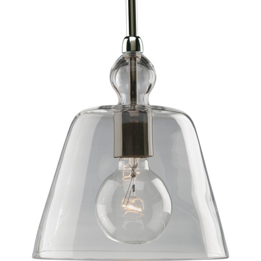Polished Nickel 1-light Pendant