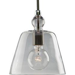 Progress Lighting Polished Nickel 1-light Pendant