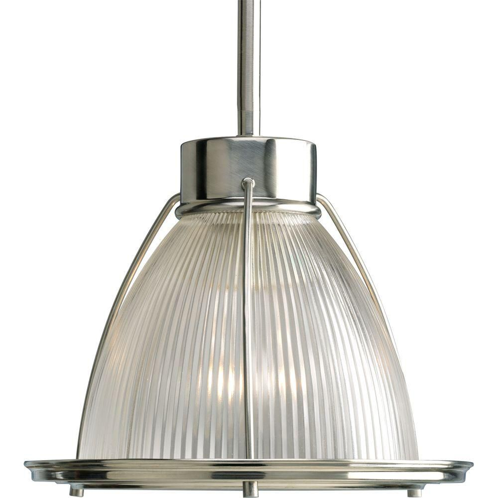 progress lighting brushed nickel 1 light mini pendant the home depot