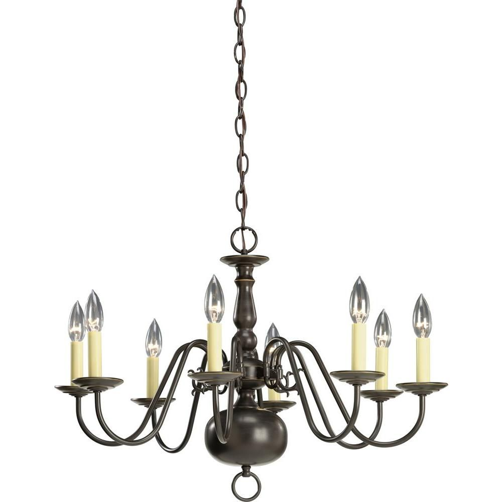 Americana Collection Antique Bronze 8-light Chandelier