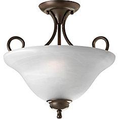 progress lighting inspire collection 2 light semi flushmount in