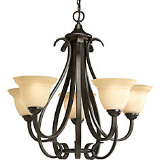 progress lighting fiorentino collection forged bronze. torino collection forged bronze 5-light chandelier progress lighting fiorentino l