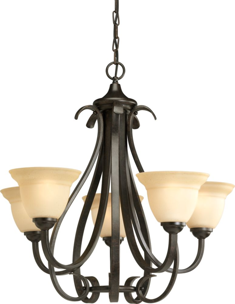 Torino Collection Forged Bronze 5-light Chandelier