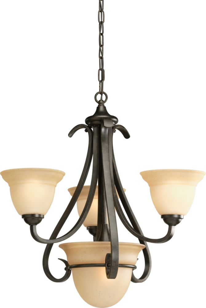 Torino Collection Forged Bronze 3-light Chandelier