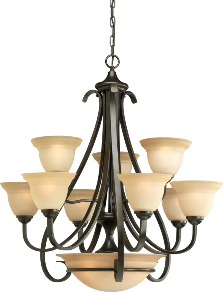 Torino Collection Forged Bronze 9-light Chandelier