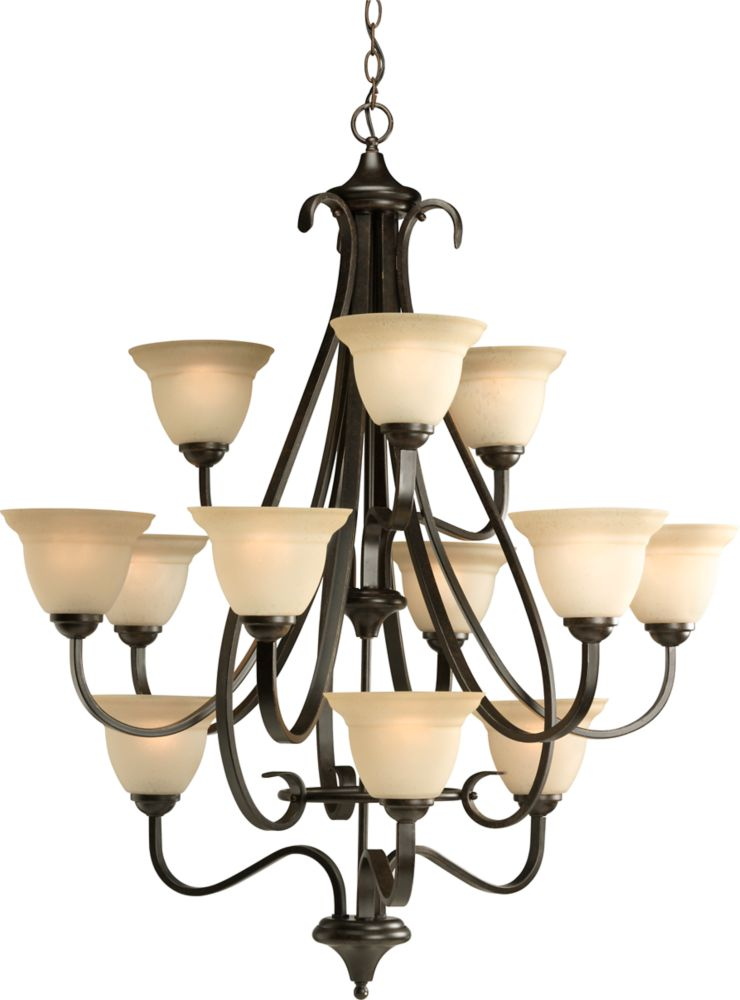 Torino Collection Forged Bronze 12-light Chandelier
