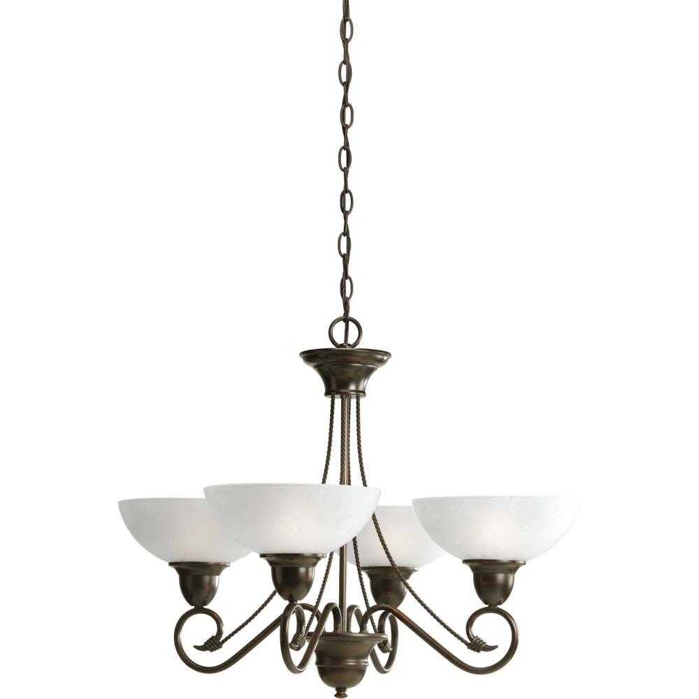 Pavilion Collection Antique Bronze 4-light Chandelier