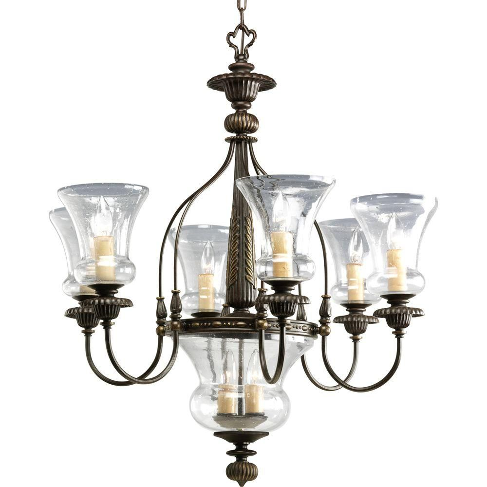 Fiorentino Collection Forged Bronze 6-light Chandelier