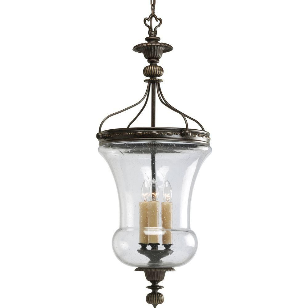 Fiorentino Collection Forged Bronze 3-light Foyer Pendant